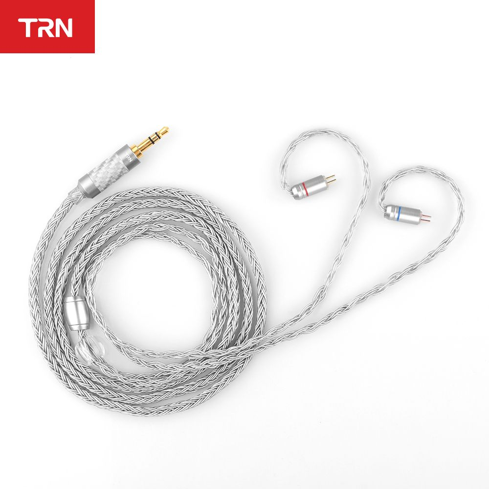 TRN T2 16 Core Silver Plated HIFI Upgrade Cable 3.5/2.5/4.4mm Plug MMCX/2Pin Connector For TRN V80 KZ AS10/AS06/ZS10 CCA C10 C16