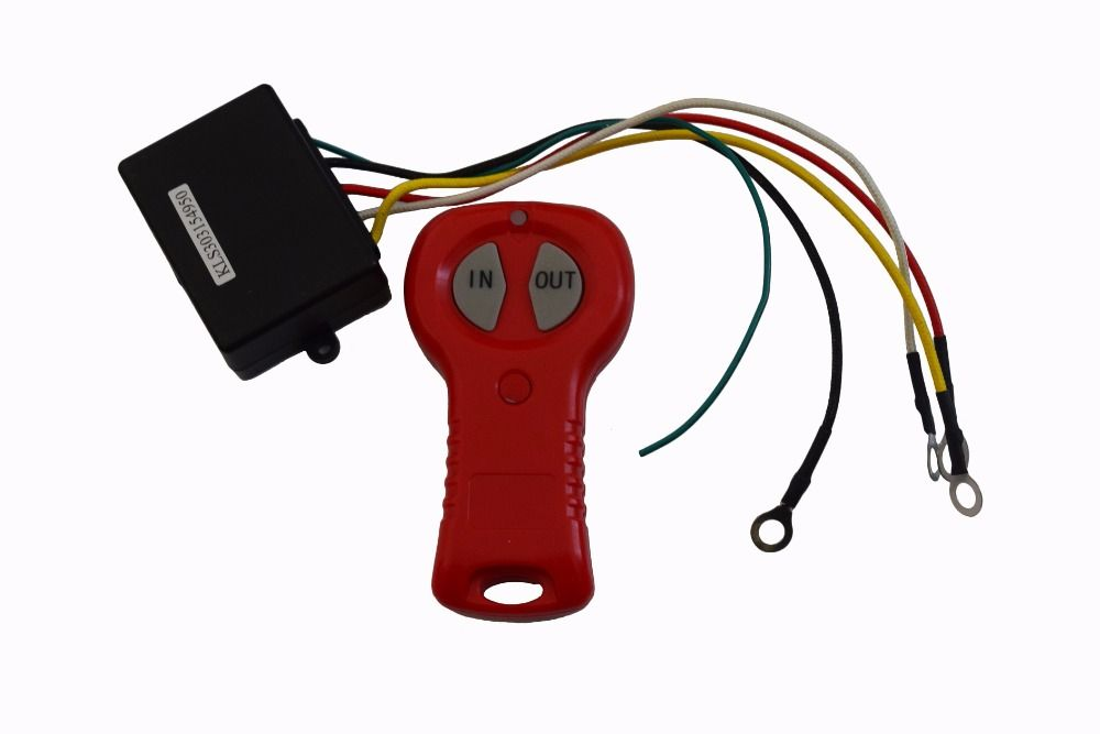 12V Electric Winch Wireless Remote Control & Receiver Kit For Car Truck ATV Vehicle