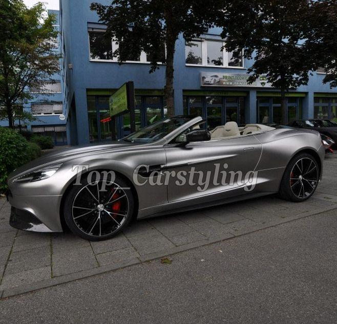 Satin Chrome Metallic Grau Blitz Vinyl Auto Wrap mit luftblase frei Fahrzeug Abdeckt Mit Air Release 1,52x20 m/4.98x66ft