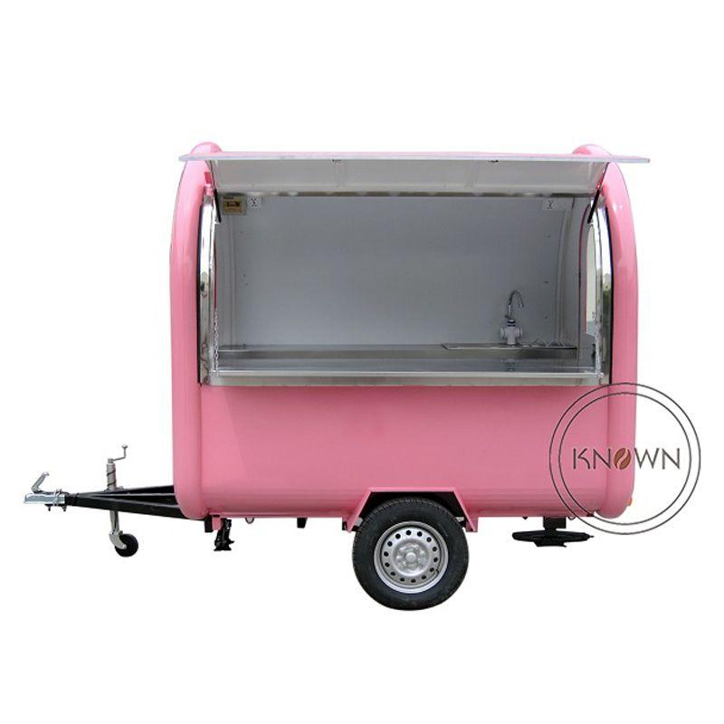 KN-220B imbisswagen/anhänger/eis lkw/snack wagen für verschiedene farben mit kostenloser versand durch meer