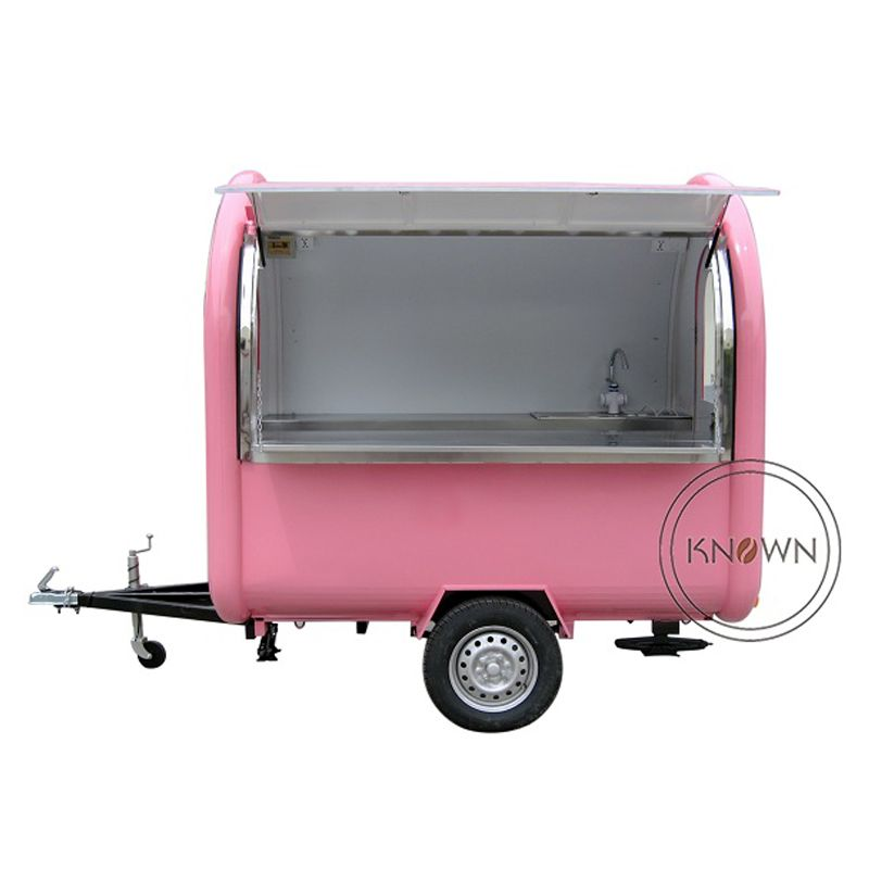 KN-220B mobile food carts/trailer/ ice cream truck/snack food carts for different colors with free shipping by sea