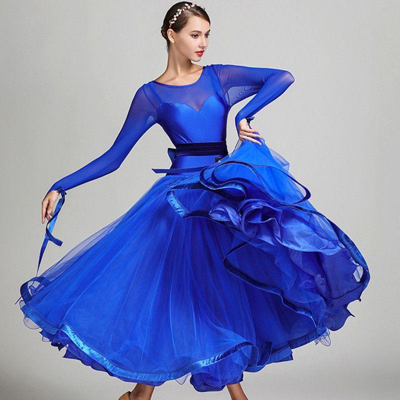 5 colors blue ballroom competition dress ballroom tango dresses standard ballroom waltz dresses ballroom dancing dress fringe