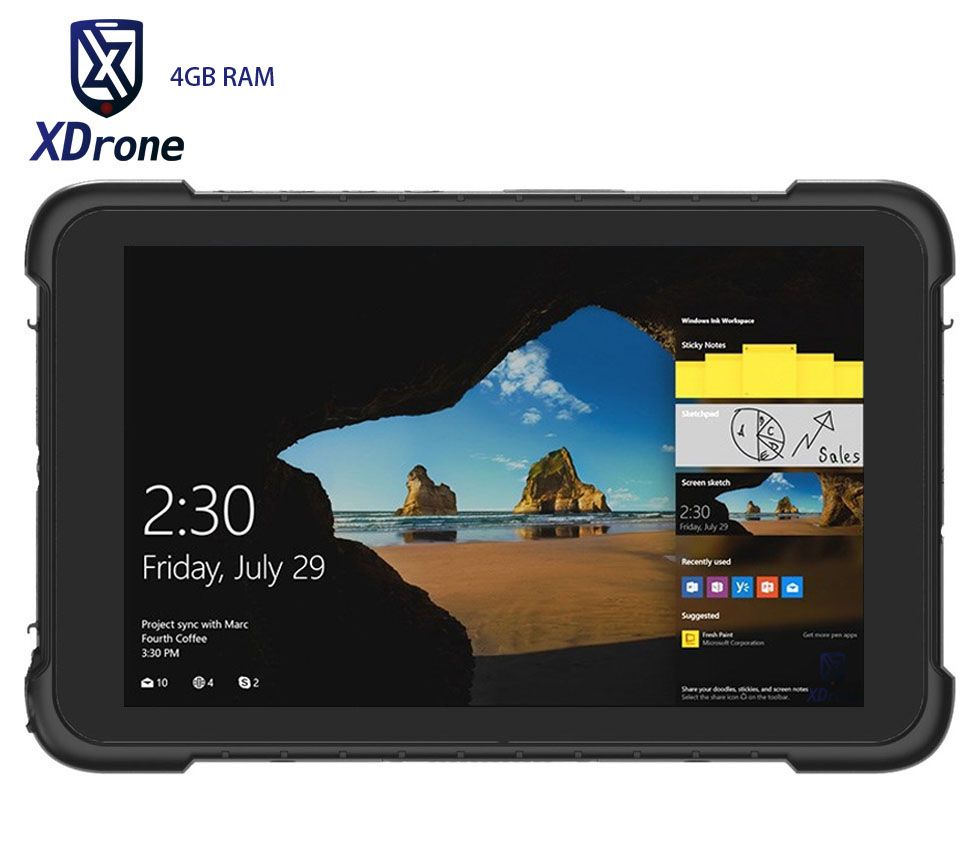 Original K86H Rugged Windows Car Tablet PC 4GB RAM 64GB ROM IP67 Waterproof Shockproof 8 Inch Quad Core OTG 4G GNSS Ublox GPS