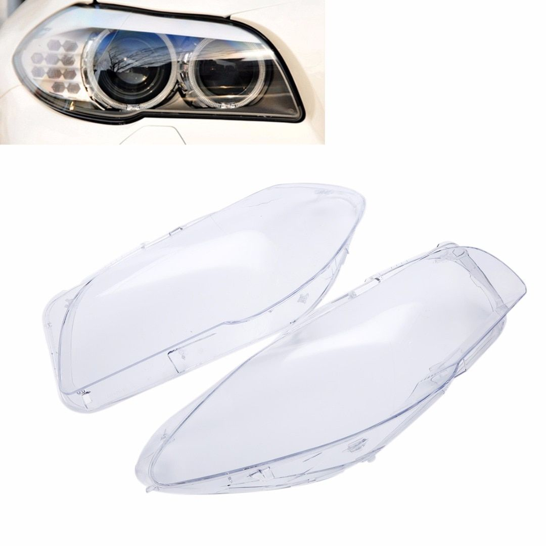 1 Pair High Quality Headlight Clear Lens Cover Front Left + Right Headlamp Shell For BMW F10 F18 2010 2011 2012 2013 2014 2015