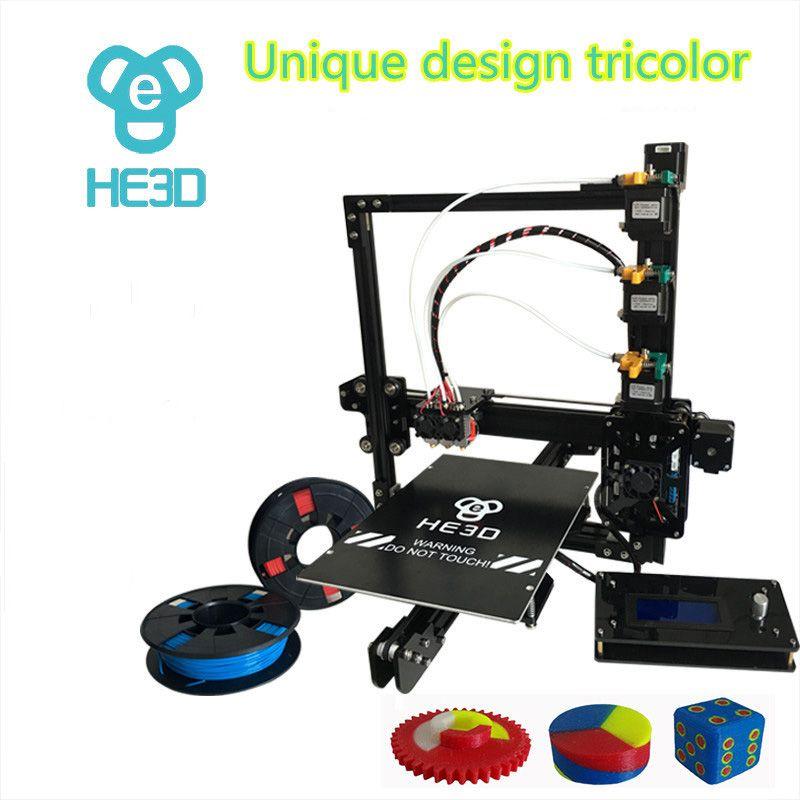 HE3D EI3 tricolor DIY 3D drucker 24 v power supply _ auto level _ große bauen größe 200*280 * 200mm_three volle metall extruder