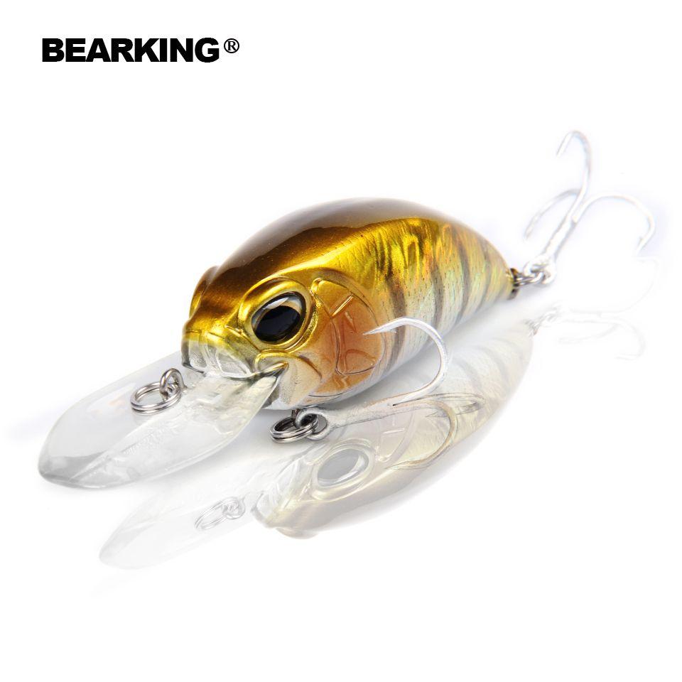 Einzelhandel heißer modell A + angeln locken BearKing neue kurbel 65mm & 16g 5 farbe für wählen dive 10-12ft, 2,8-3,2 m angeln bewältigen harten köder