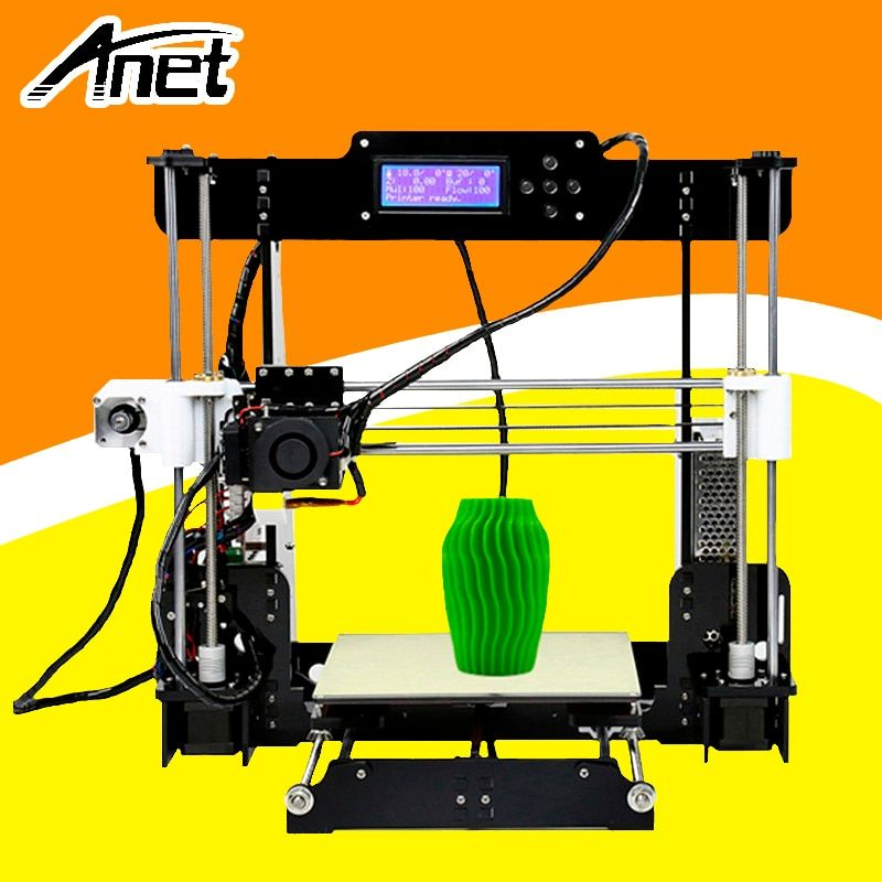 ANET A8 3d printer Reprap Prusa i3 precision 2 Kit DIY Easy Assemble DIY Kit+Hotbed LCD Screen 8GB SD Card Send From Moscow
