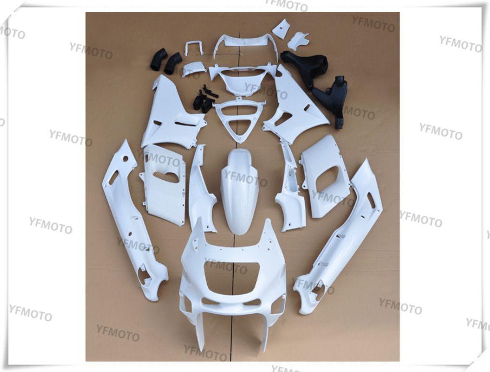 Motorcycle Unpainted White Fairings BodyWork Kit For KAWASAKI ZZR-400 ZZR 400 1993-2007 01 02 03 04 05 06 +4 Gift