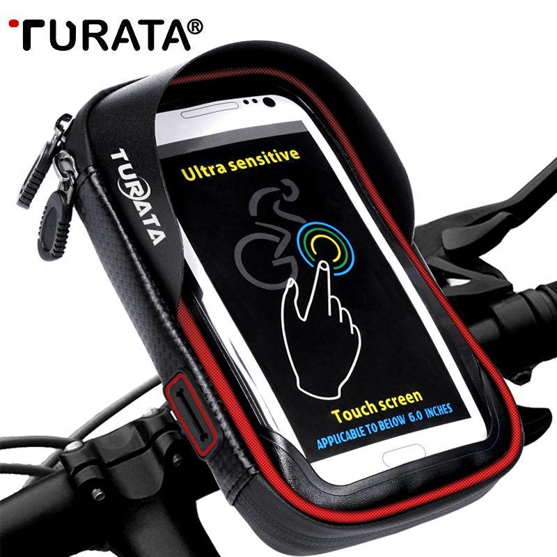 TURATA 6.0 pouces vélo vélo étanche support de sac de téléphone portable support de moto pour Samsung Galaxy s8 plus/iPhone 7 plus/LG V20