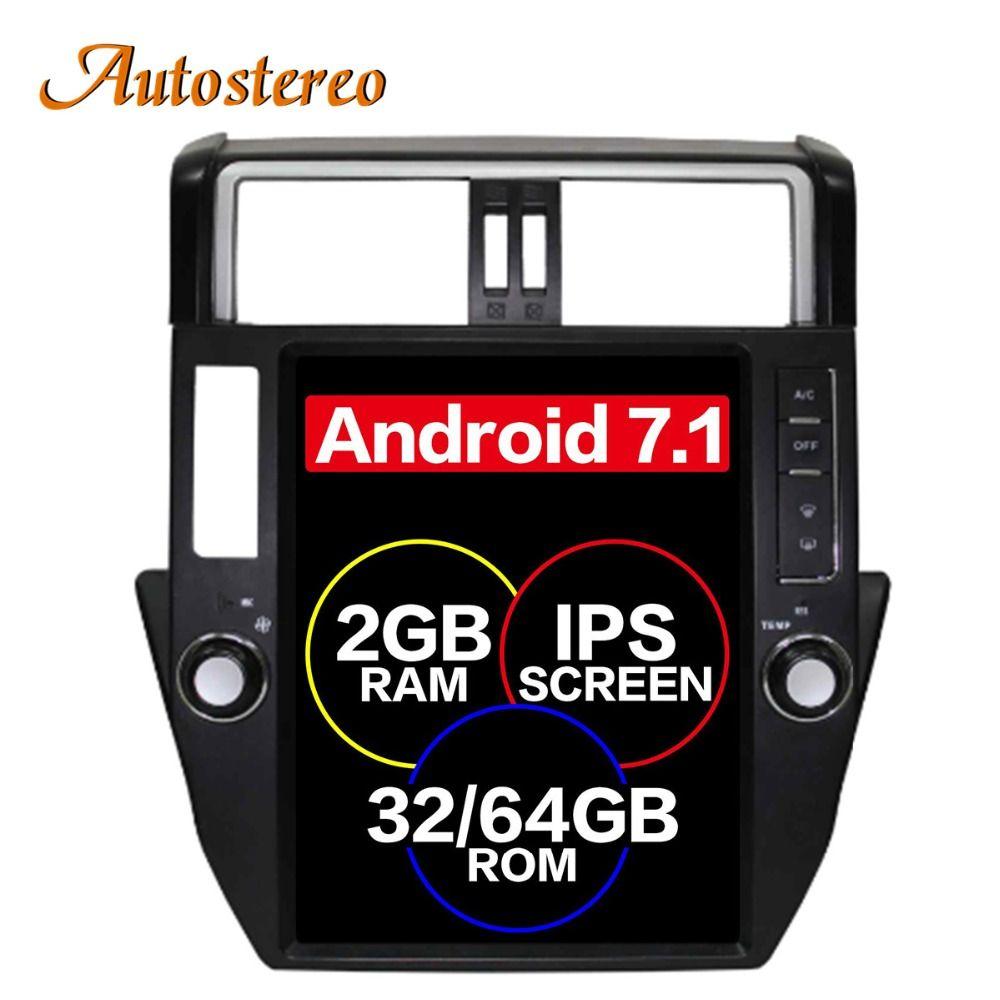 Pure Android Tesla style Car No DVD Player GPS Navigation For TOYOTA Land Cruiser Prado 150 2010-2013 headunit multimedia ISP