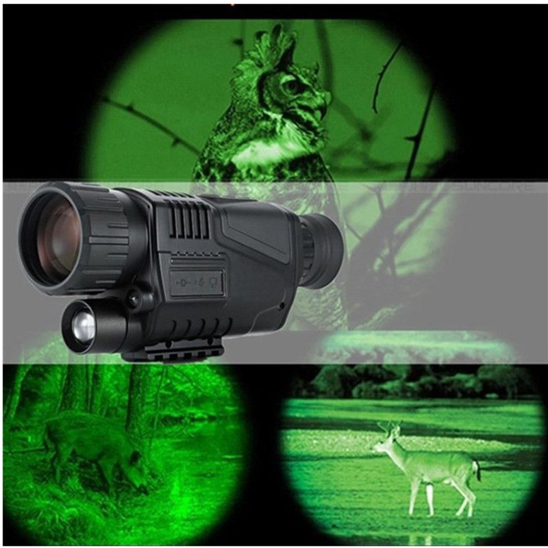 Hunting Night Vision Telescope 5 x 40 Infrared Military Tactical Monocular Powerful HD Digital Vision Monocular Telescope