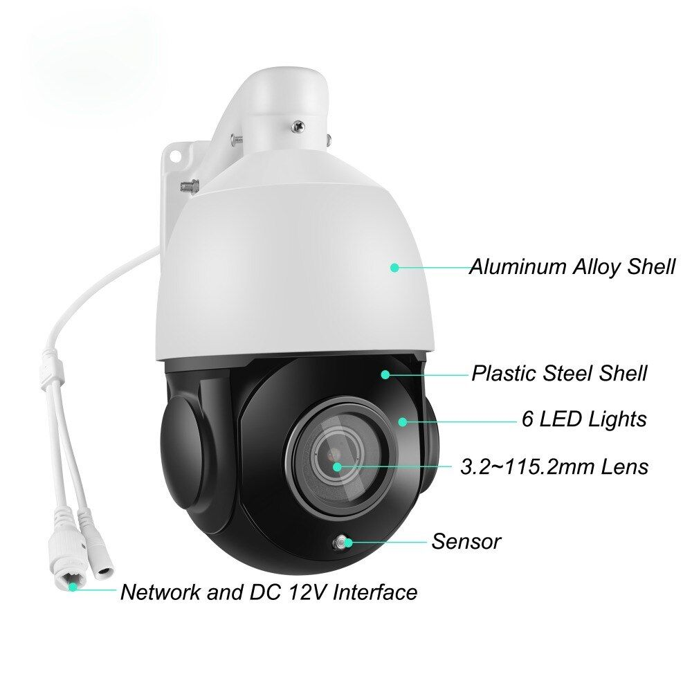 4 inch Mini 5MP IP PTZ camera Network Onvif Speed Dome 36X Optical Zoom PTZ IP Camera dayNight p2p cctv camera