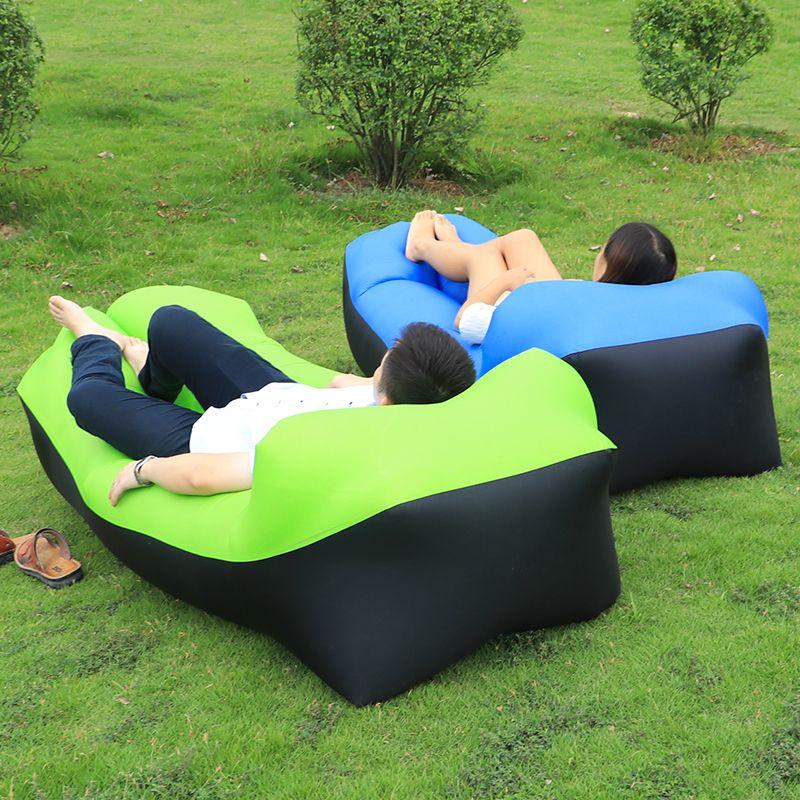 Aufblasbare Sofa Air Luftbett Liege couch Banana Schlafsack Matratze Sitz Couch Camping Laybag faul tasche Hängematte camping