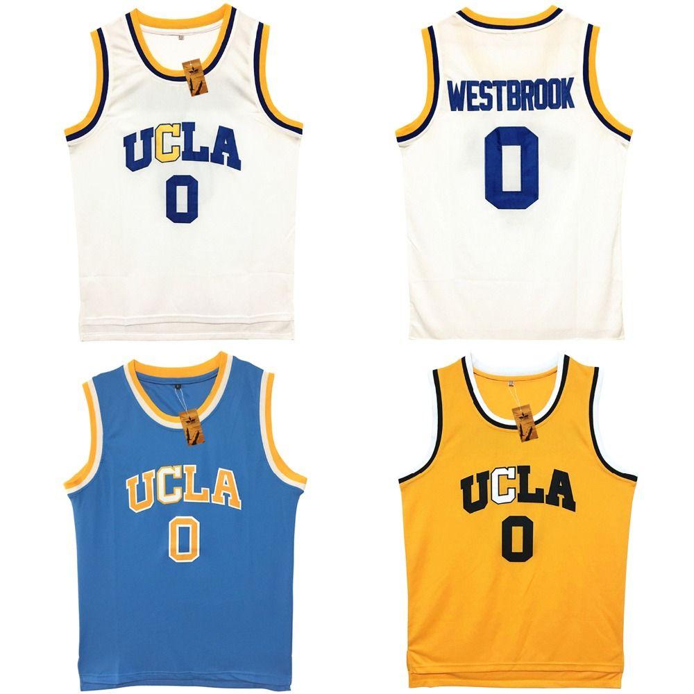 Vture Мужские Уэстбрук #0 & #2 ucla Брюинз синий прошитой Баскетбол Джерси