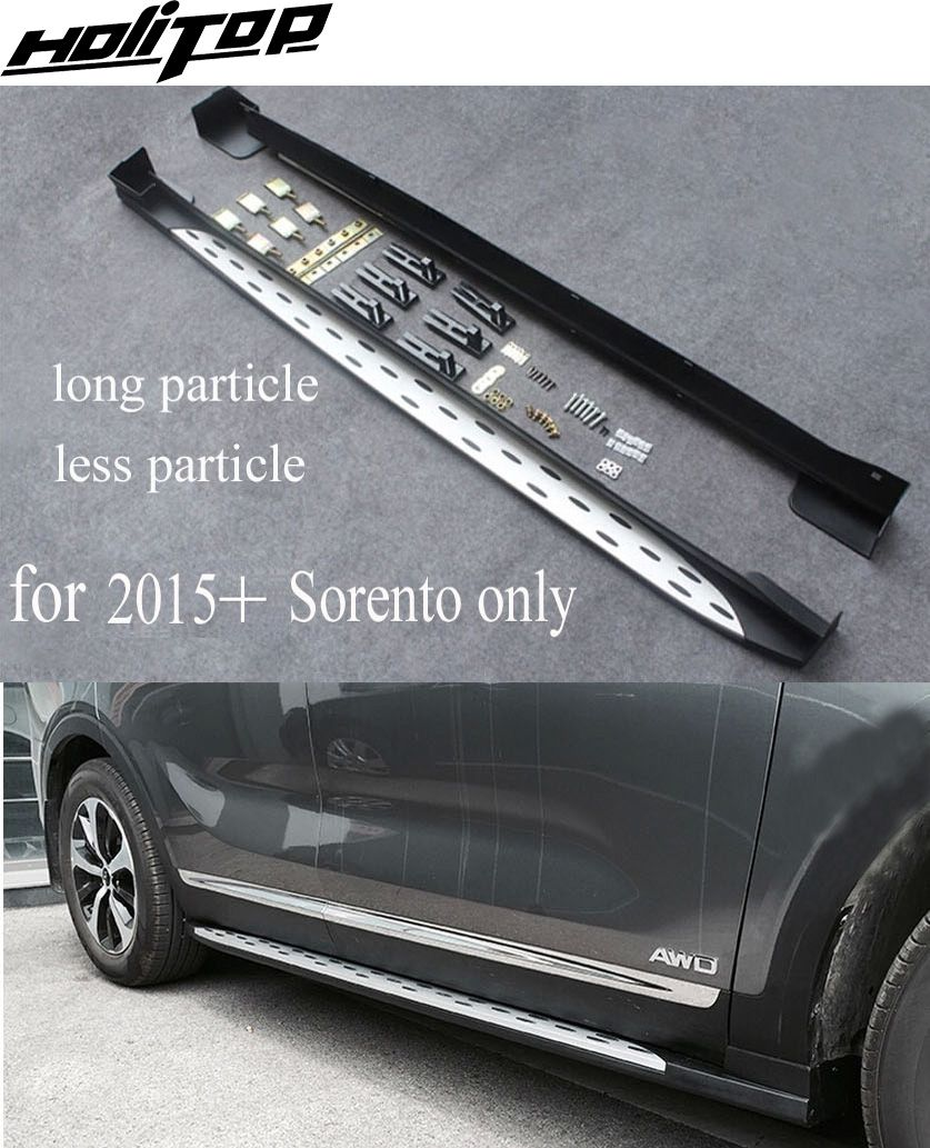 hot side step nerf bar running board for KIA Sorento 2015 2016 2017,popular model,aluminium alloy+ABS,ISO9001 quality supplier