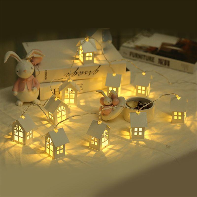 1.5 m 10 pcs LED Arbre De Noël Maison Style Fée Lumière LED Chaîne de mariage natal Guirlande Nouvelle Année décorations de noël pour la maison