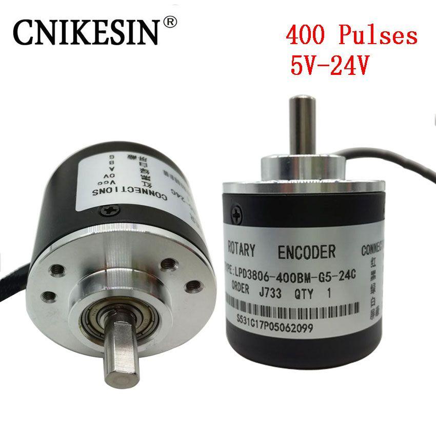 CNIKESIN 400 Pulses Incremental Optical Rotary Encoder AB Two-phase 5-24V 400 Pulse Incremental Optical Rotary Encoder 600 Pulse