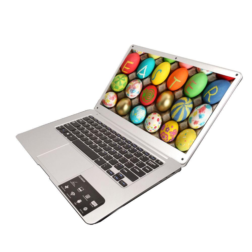 2017 NEUE 14 zoll laptop Freies Verschiffen, hohe qualität ultrabook 4 GB/64G mit Windows 10, 8000 mah, Notebook freie maus geschenke