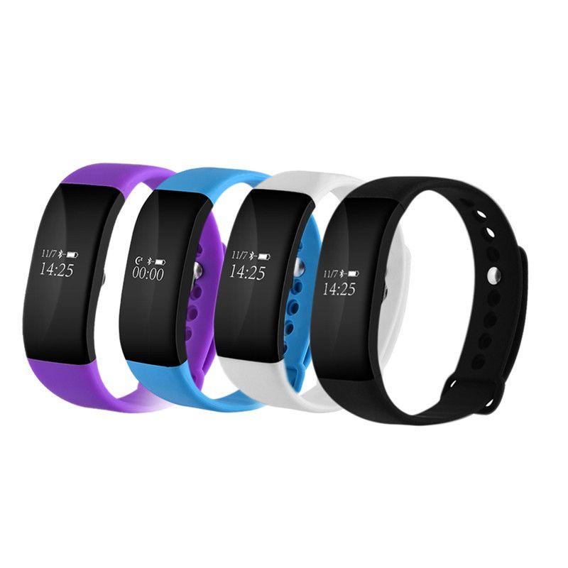 Mode Étanche V66 Bluetooth Smartband Sommeil Moniteur de Fréquence Cardiaque OLED Bracelet à puce pour iPhone 5S 6 6 s 7 pour Android téléphones