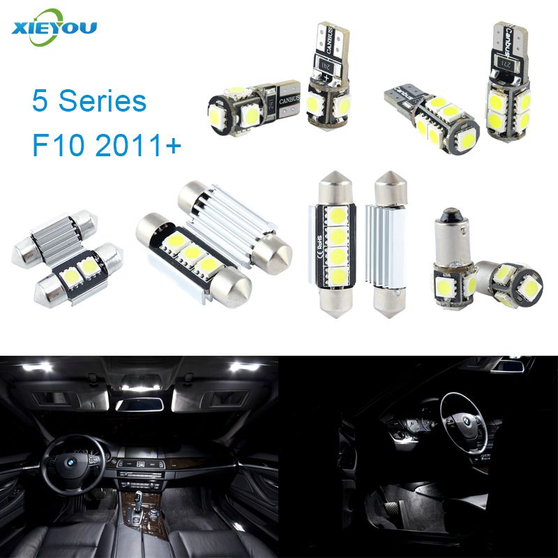 Xieyou 19 шт. LED Canbus Подсветка салона комплект Вышивка Крестом Пакет для BMW 5 серии F10 (2011 +)