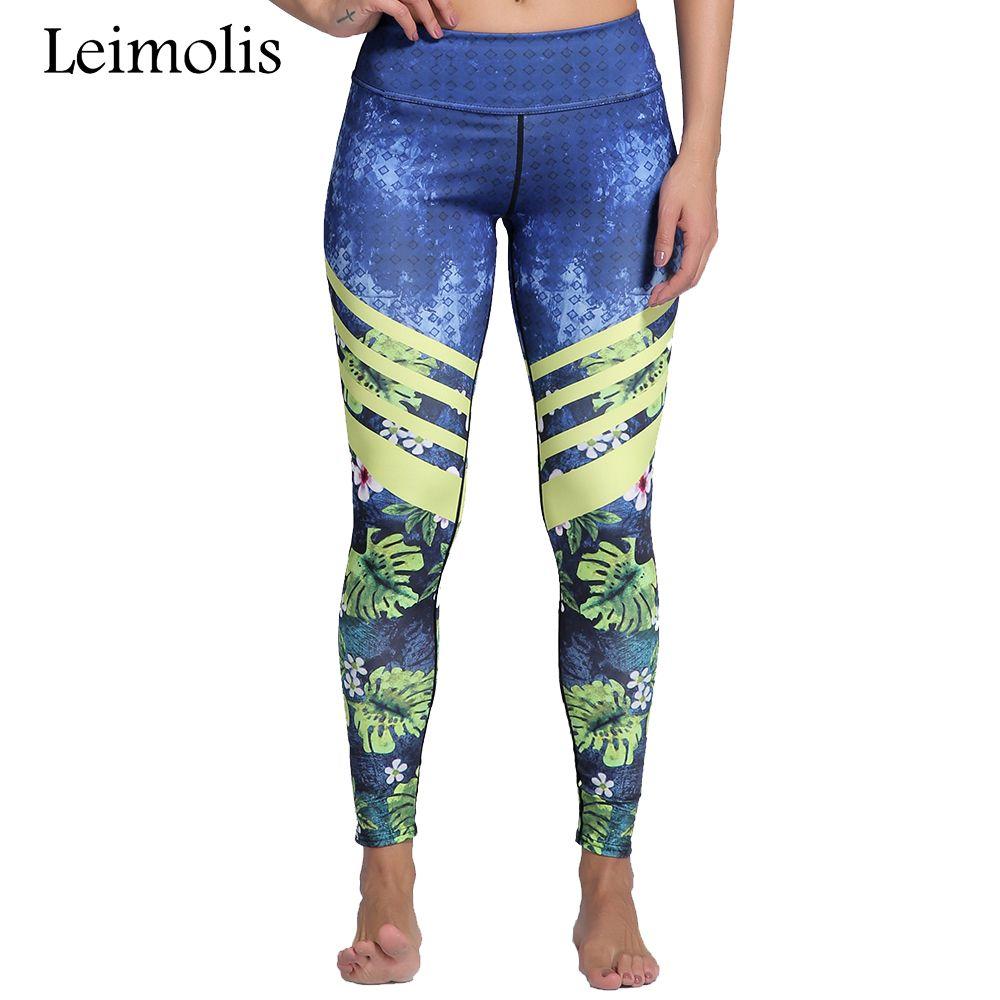 Leimolis 3D print Jungle Spring Flower winter Harajuku High Waist workout push up plus size fitness leggings women pants