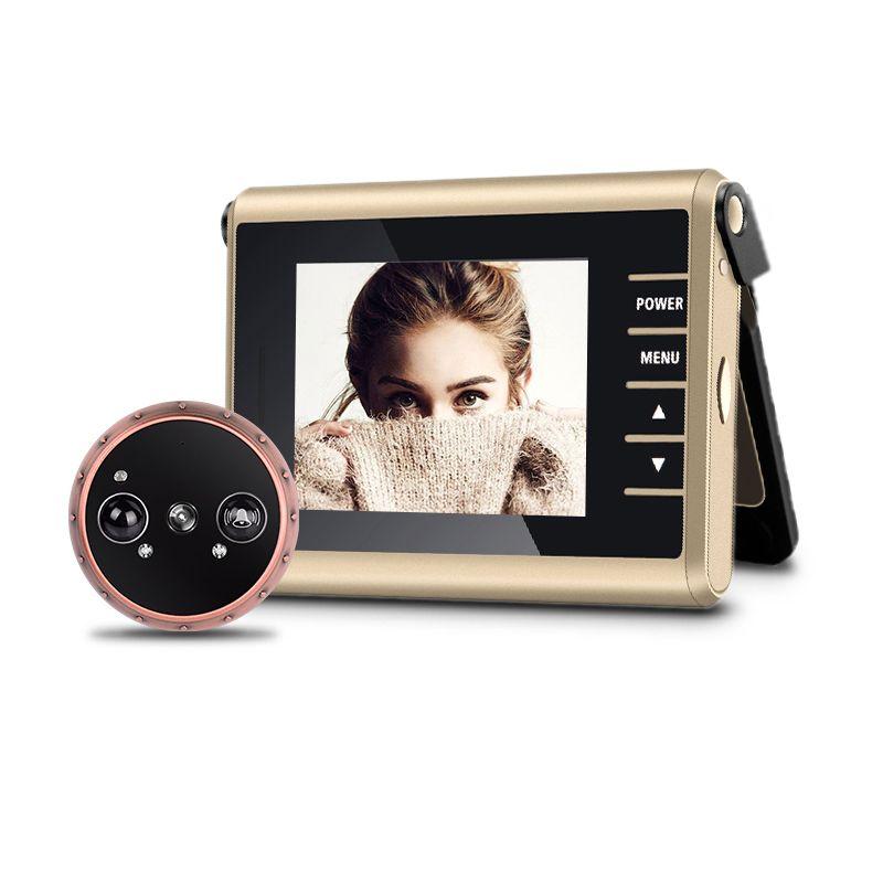 Special D13 clamshell design 3.0 inch Wireless Video Door Peephole Camera PIR Motion Detection Auto Recording Door Camera