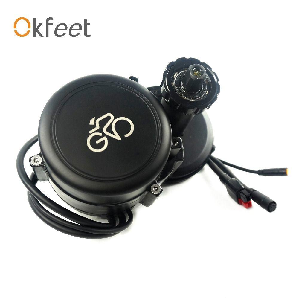 Okfeet free custom tax GP midmotor torque sensor controller integrated powerful 48V500W electric bicycle convertion kit