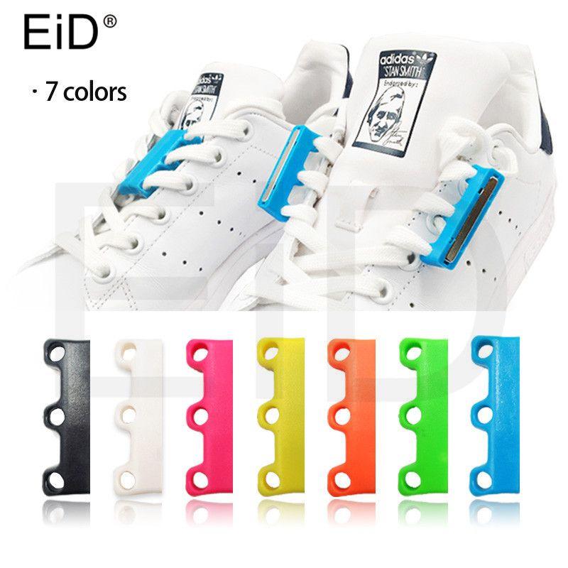 EID 1 Paire 6 Couleur Lacets Magnétique Lacet Boucle Paresseux Fermetures Lacet Chaussure lacets de chaussures Non à Cravate paresseux lacets de chaussures