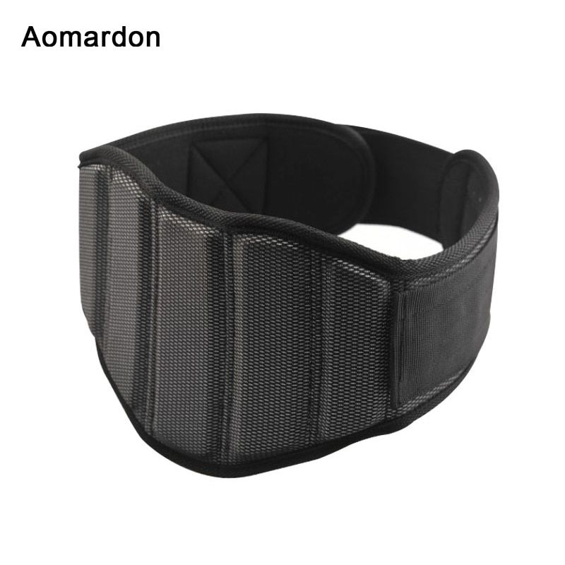 Aomardon Men Nylon Weightlifting Belt Gym Fitness Crossfit Weight Lifting Back Support Breathable Power Training Belt Equipment