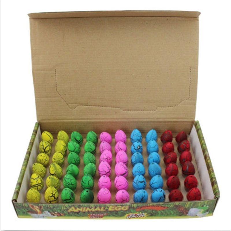 60 pièces/ensemble à couver croissant Mini dinosaure oeufs jouet eau grandir pour enfants cadeau magique dinosaure oeufs nouveauté Gag jouet drôle jouet