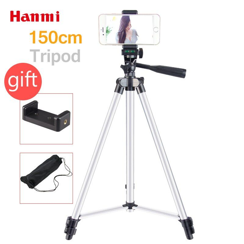 Hanmi New Lightweight Flexible Camera Tripod For Mobile Phone Professional Tripod For Canon Sony Nikon Compact Camera SmartPhone