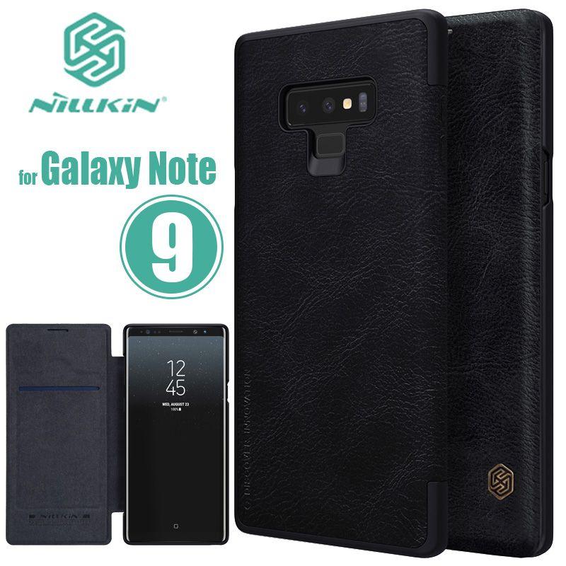 Pour Samsung Galaxy Note 9 Cas Nillkin Qin D'affaires Note9 Flip En Cuir étui pour Samsung Galaxy Note 9 8 7 5 FE Luxe coque de téléphone
