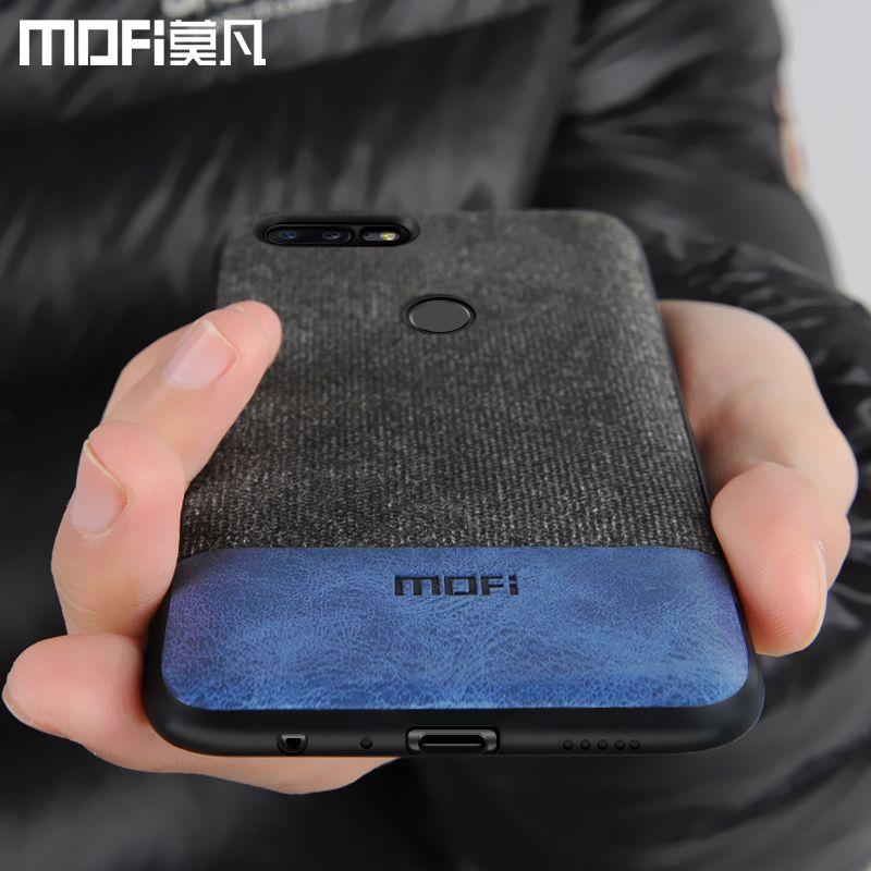 Oneplus 5 t cas couverture un plus 5 t couverture arrière silicone bord hommes d'affaires tissu antichoc cas coque MOFi oneplus 5 t cas