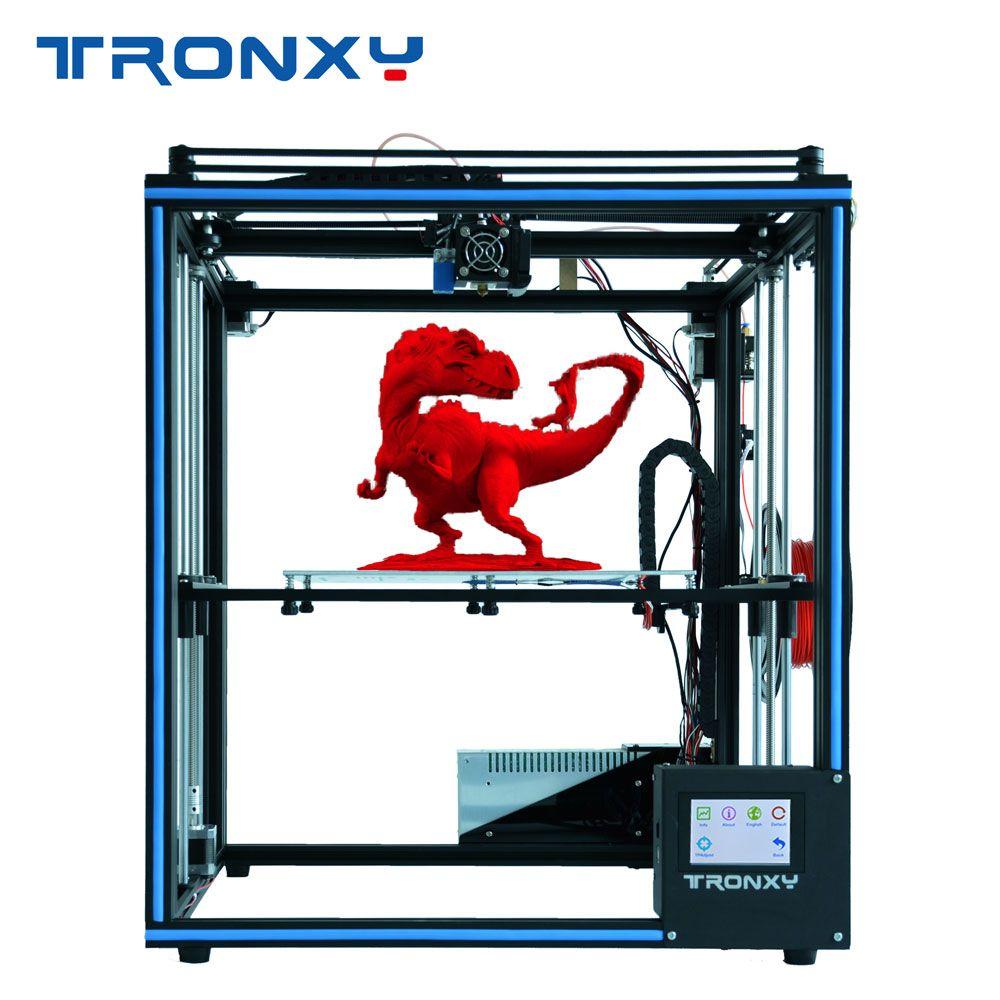 2019 neueste Verbesserte Tronxy X5SA 3D Drucker Touchscreen Auto nivellierung Filament Sensor Brutstätte Größe 330*330mm