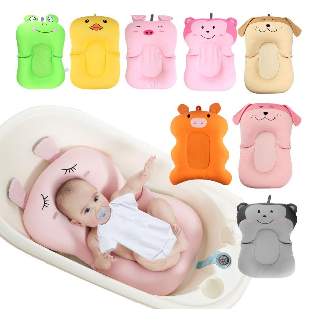 Cartoon Baby Bath Tub Foldable Anti-skid Baby Bathing Mat Shower Bed Non-Slip Security Baby Bath Pad Newborn Seat Soft Cushion