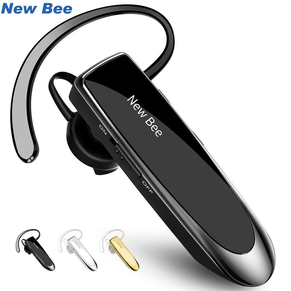 New Bee Bluetooth Headset Bluetooth Earphone Hands-free Headphone Mini Wireless Headsets Earbud Earpiece For iPhone xiaomi