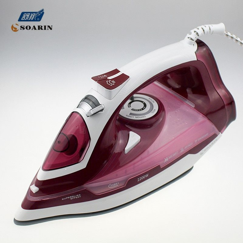 Household Steam Iron for Clothes 220v Ceramic Selfcleaning Steamer Iron Clothing Burst of Steam Steam Controler Wire Ironing