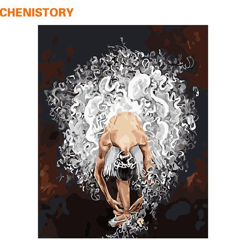 CHENISTORY Sans Cadre Ballet Danseur DIY Peinture Par Numéros Acrylique Peinture Sur Toile Peinte À La Main Peinture À L'huile Pour La Décoration Intérieure Arts