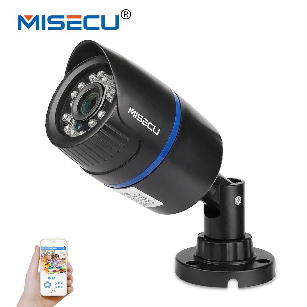 MISECU Newest H.265/H.264 IP Camera 2.0MP 1080P HI3516+SONY IMX322 Bullet Outdoor Camera Full HD ONVIF Surveillance Cameras