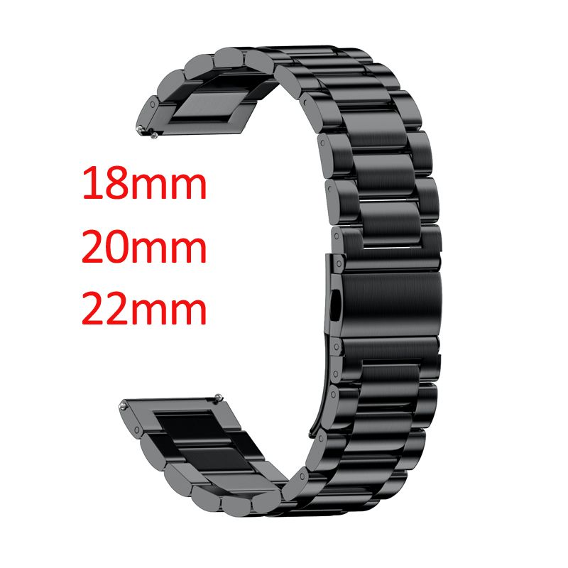 16mm 18mm 20mm 22mm 24mm largeur bande en acier inoxydable pour Samsung Gear Sport S2 S3 Galaxy 42mm 46mm montre bracelet en métal