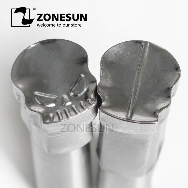 ZONESUN Skull shaped logo customized milk tablet slice die Stamp precision punch die mold sugar tablet press tool TDP 0/1.5/3/5