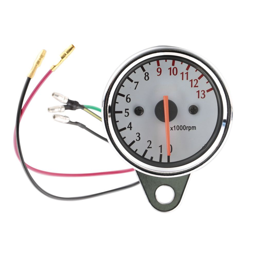 Universal 13000 RPM Scooter Motorcycle Analog Tachometer Gauge12v Motorcycle Instruments Scooter Speed Indicator hot selling