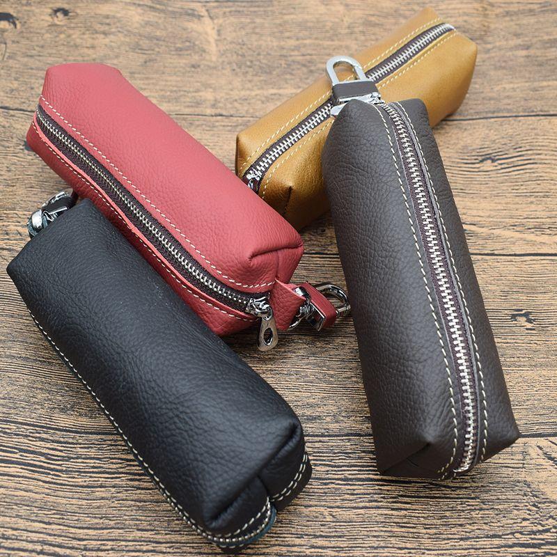 Offre spéciale porte-clés de voiture porte-monnaie en cuir véritable pour hommes porte-clés femmes femme de ménage plus étui à clés design avec clé