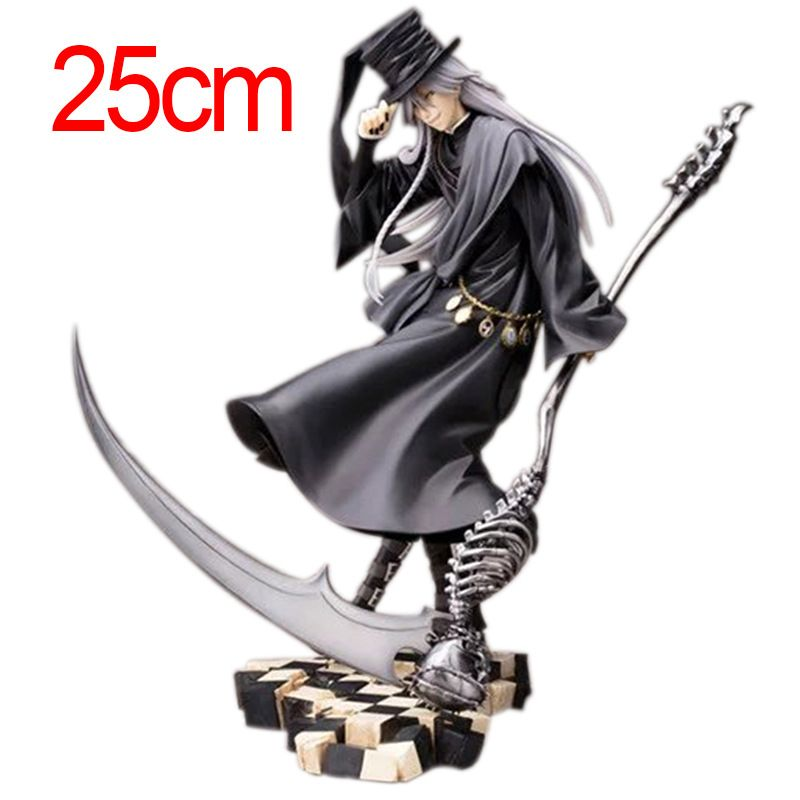 Black Butler 25cm Undertaker Action Figure Pvc Japanese Anime Figures One Piece Figure Model Collection