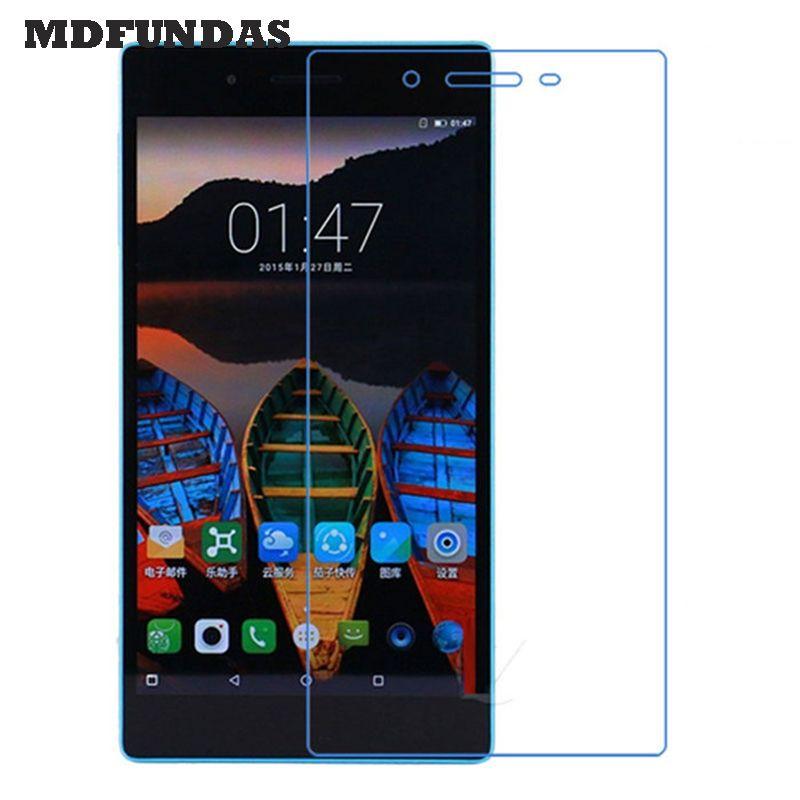 Glas für lenovo tab 3 7.0 730 mt 730x 730f (Tab3 TB3-730M) Tablet Pad Ausgeglichenes Glas-schirm-schutz 2.5D 9 H Glas Film MDFUNDAS