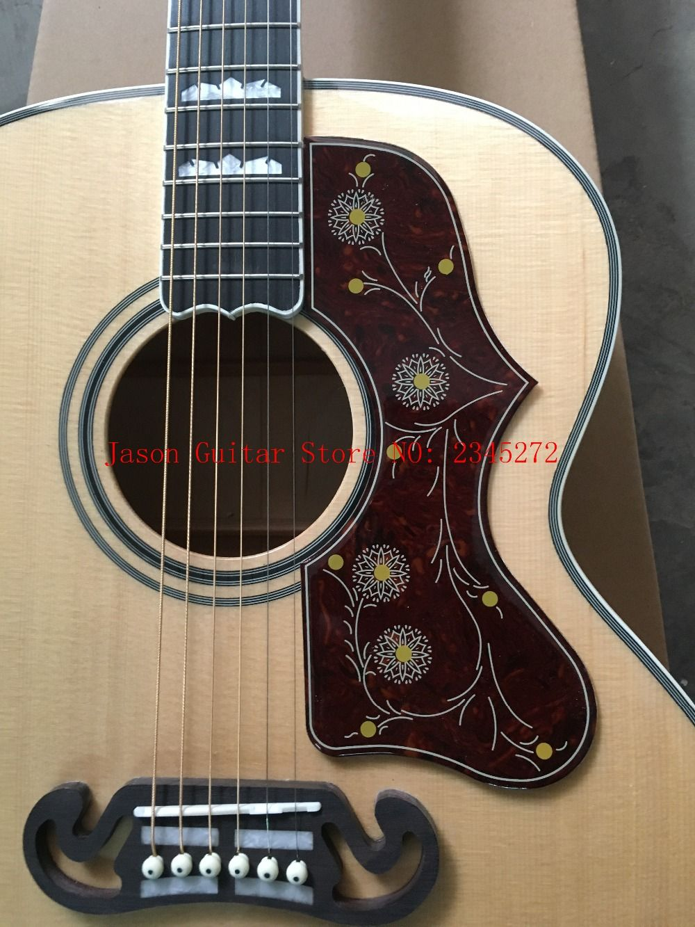 2018 New + Factory + Chibson J200 flame maple acoustic guitar J200 electric acoustic Deluxe guitar spruce top acoustic+customize