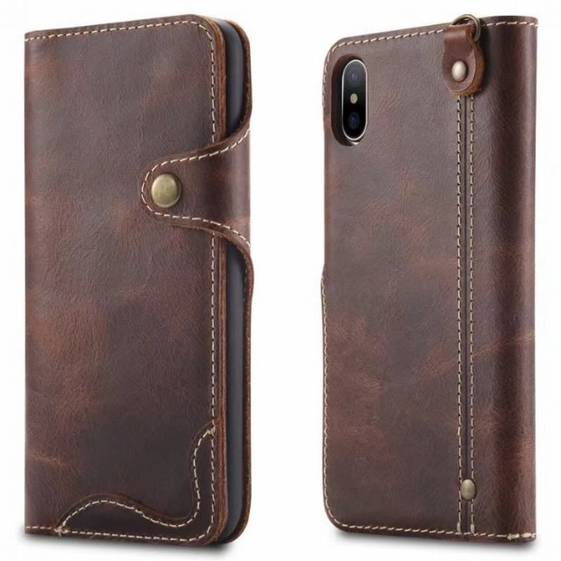 For Funda iPhone X Case Cover Genuine Leather Wallet Luxury Protective Phone Bag Cases For Apple iPhone X Cover With Card Slots