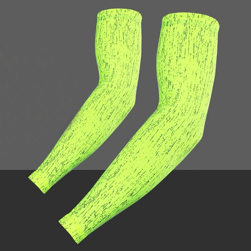 2pcs/Set Glow In Night UV Protection Sleeves Driving Ridding Golf Arm Sleeves Cycling Bike Bicycle Arm Warmer Quick Sleeves