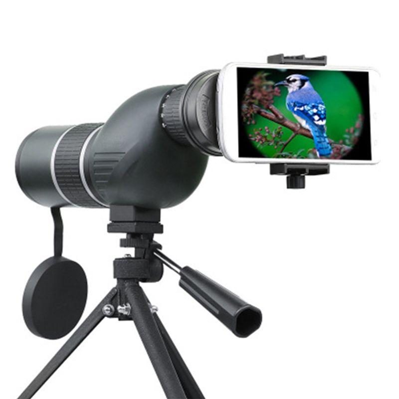 Monoculaire Télescope Lentille 12-36X 50A/15-45X 60A Zoom Oiseau regarder HD Optique Téléphone Camera Lens Vue Oculaire + Réglable trépied
