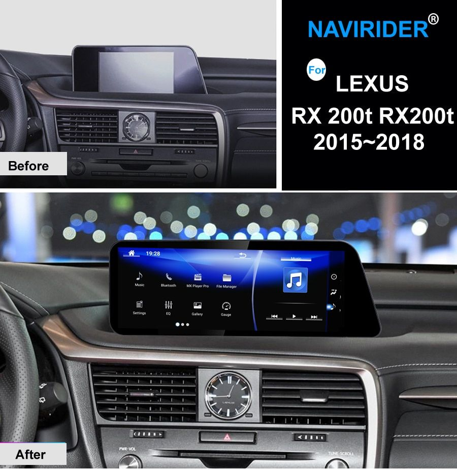 NAVIRIDER Auto Android 7.1 multimedia player Für Lexus RX 200 t RX200t 2015 ~ 2018 GPS Navi maps Navigation Player Radio stereo